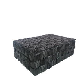 Box Mosaic zwart- L - 25x18x8 cm (CS1003)