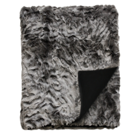 Heirloom bontplaid 150 x 180 cm Pewter Chinchilla