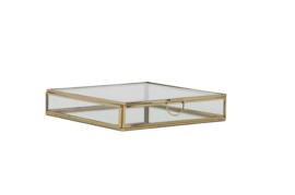 Deco box 20x20x4 cm MIRINA goud-spiegel (LL1005)