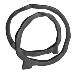Sculptuur ringdeco zwart 28x25cm (LS1009)