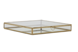 Deco box 30x30x4 cm MIRINA goud-spiegel (LL1004)