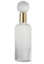 Fles Deco Relief Glass transparant 37cm, L (JL1008)