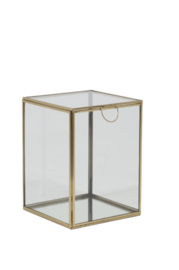 Deco box 16x16x21 cm MIRINA goud-spiegel (LL1003)