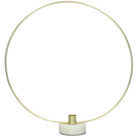 Kaarsenhouder rond goud/wit 40x8x38cm (VK1007)