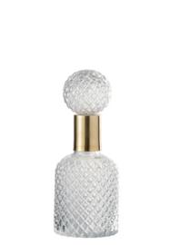 Fles Deco Relief Glass transparant 30cm, S (JL1009)