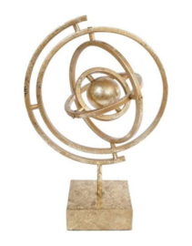 Sculptuur atmosfeer 23,5 x 17,3 x 35,5 cm metaal goud (VM1001)