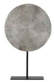 Ornament op voet Ø35x56 cm RAWAS ruw nikkel cirkel-mat zwart (LL1001)
