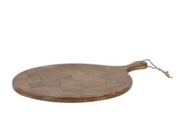 Snijplank deco (groot) 40x2x52,5 cm MINTO hout donker bruin (LL1010)