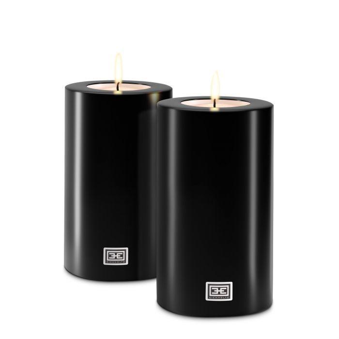 Eichholtz kaarsen set zwart L (EIC1004)
