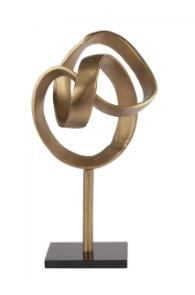 Sculpture knot op marmer voet 20x20x43cm (LS1001)