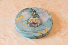 Purple Florals Silver