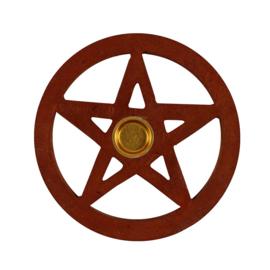 Wierook Houder - Pentagram Hout