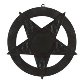 Muur Decoratie - Wood Pentagram