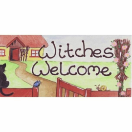 Smiley Sign - Witches Welcome