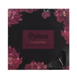 Waxinelichtjes - Zwart Opium