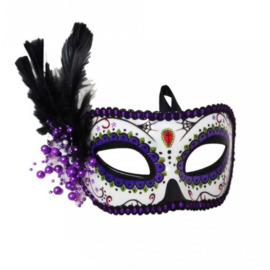 Masker - Day Of The Dead Paars