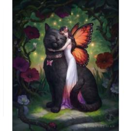 3D Plaat - Cat And Fairy