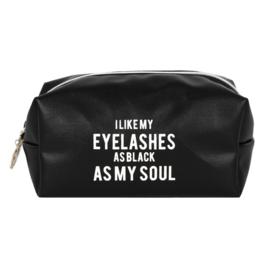 Make-Up Tasje - As Black As My Soul