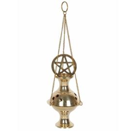 Wierook Houder - Pentagram Metaal