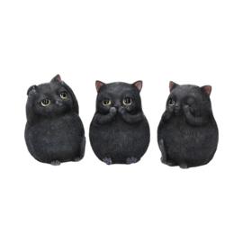 Beeld - Three Wise Fat Cats 8.5cm