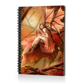 Spiraal Notitieboek 3D - Autumn Fairy
