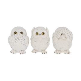 Beeld -Three Wise Owls 7.5cm