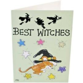 Wenskaart + Envelop -  Best Witches