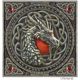 Wenskaart + Envelop - Celtic Dragon