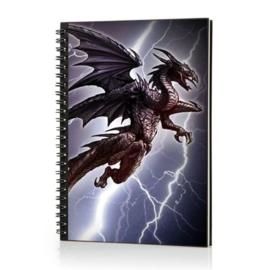 Spiraal Notitieboek 3D - Lightning Dragon
