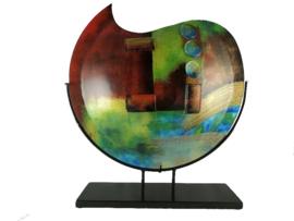 Vaas glas maanvorm Artwork 48cmH