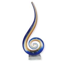 Glassculptuur  Sleutel Bruin / Blauw 33cmH x 14cmL x 6cmB
