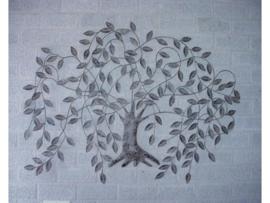 "Wanddecoratie metaal ""Treurwilg"" 120x90cmH"