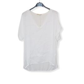 T-Shirt wit Size V-Hals
