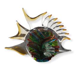 Glassculptuur Muranostijl vis 17x23x10cm