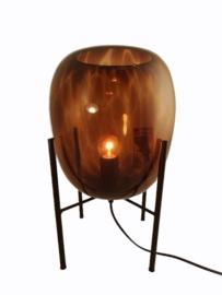 Tafellamp glas Ø20cmx37cmH