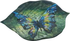 Schaal bladvorm Butterfly 37cmL
