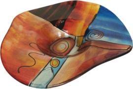 "Schaal glas hoed gekleurd ""Fusion"" Ø46cmx10cmH"