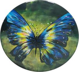 Schaal glas rond Butterfly Ø47cm