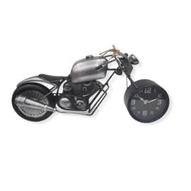Tafelklok metaal motorfiets 44x23cmH