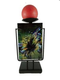 Kandelaar glas Butterfly 24cmH