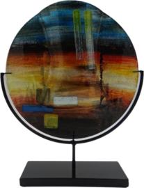 """Vaas glas rond gekleurd """"Desert"""" in standaard Ø30cmx39cmH"""