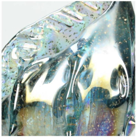 Ornament Shell Glass Blue 15x14x32cm