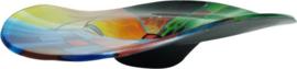 Schaal glas hoed multicolor 46x46x10cmH