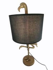 Tafellamp met vogel goud 65cmH