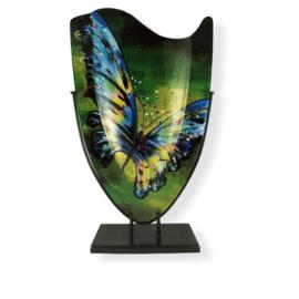 Vaas glas ovaal Butterfly 37x57cmH