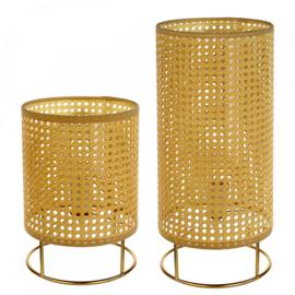 """Lamp """"Vienna""""metaal / kunststof gevlochten Large"""