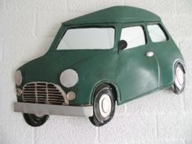 Wanddecoratie Mini groen spiegels 65cmLx39cmH