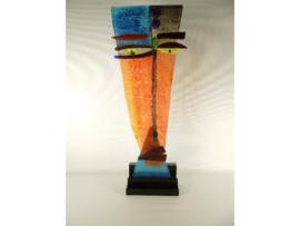 Face modern glas op acryl base