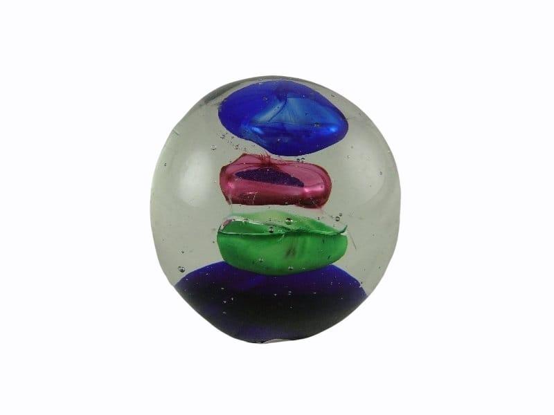 Paperweight glas blauw/purper/groen