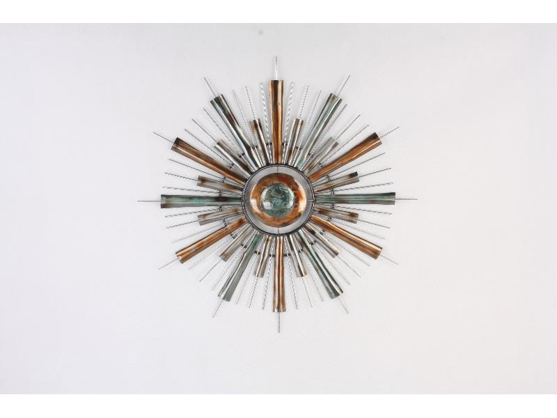 """Wanddecoratie metaal modern """"Sun"""" Ø80cm"""